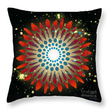 In The Beginning Throw Pillow by Leanne Seymour