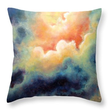 In The Beginning Throw Pillow by Marina Petro