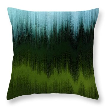 Throw Pillow featuring the digital art In The Black Forest by Gina Harrison
