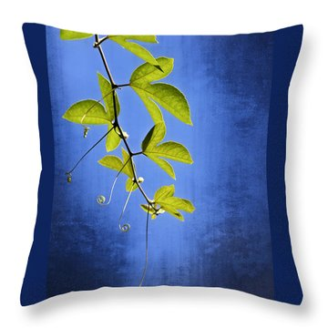 In The Blue Throw Pillow by Carolyn Marshall
