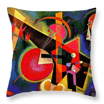 In The Blue Throw Pillow by Kandinsky
