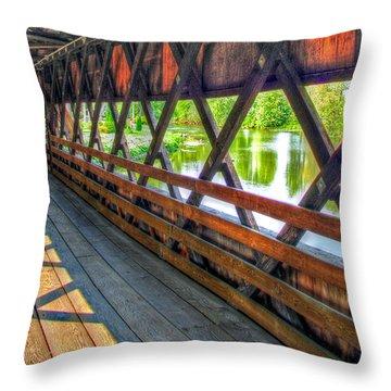 In The Bridge Throw Pillow by Jackie Novak
