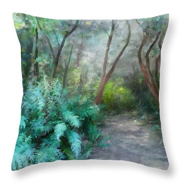 In The Bush Throw Pillow