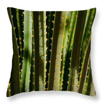 In The Cactaceae Weeds Throw Pillow