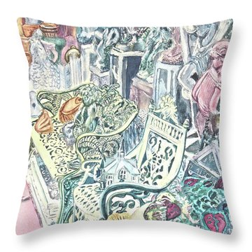In The Cement Garden Throw Pillow