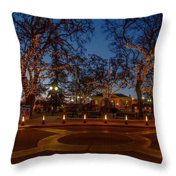 In The Center Of Town At The Crack Of Dawn Throw Pillow