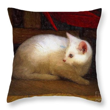 In The Chair Throw Pillow