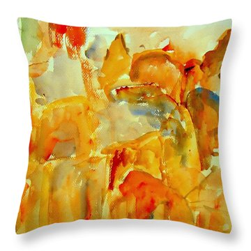 In The Churchyard Throw Pillow