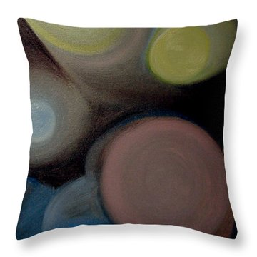 In The Circles Of The Light Throw Pillow by Saad Hasnain