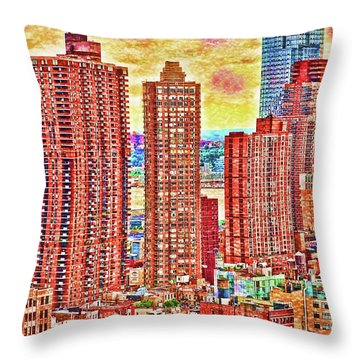 Throw Pillow featuring the photograph In The City by Barbara Manis
