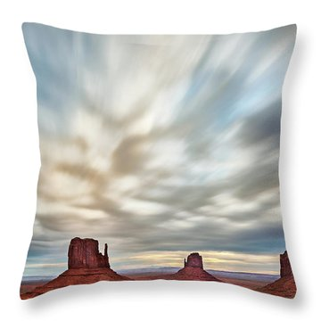 Throw Pillow featuring the photograph In The Clouds by Jon Glaser