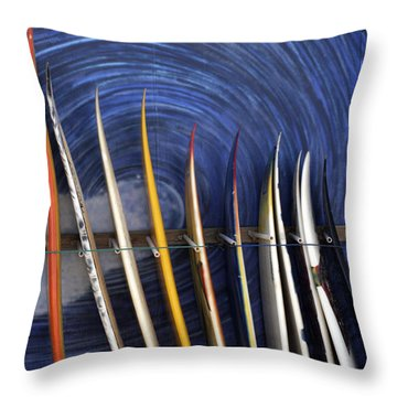 In The Curl Throw Pillow