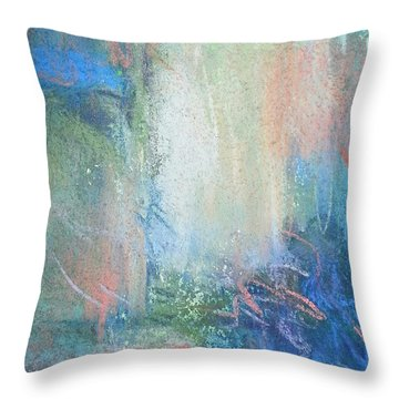 In The Depths Throw Pillow by Becky Chappell