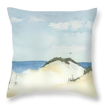 In The Dunes Throw Pillow by Lynn Babineau