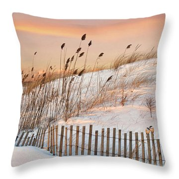Throw Pillow featuring the photograph In The Dunes by Robin-lee Vieira