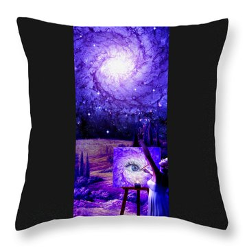 In The Eye Of The Beholder Throw Pillow by Robby Donaghey