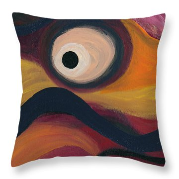 Throw Pillow featuring the painting In The Eye Of The Hurricane by Ania M Milo
