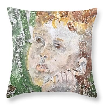 In The Eyes Of A Child Throw Pillow