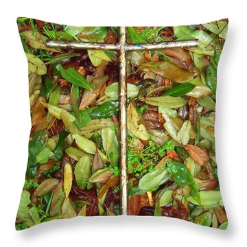In The Fall Throw Pillow by Deborah Montana