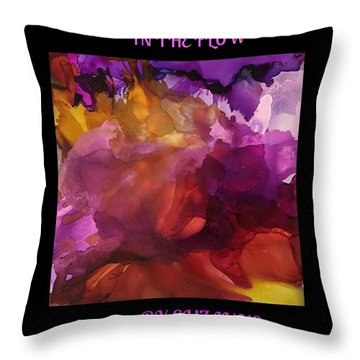 Throw Pillow featuring the painting In The Flow by Suzanne Canner