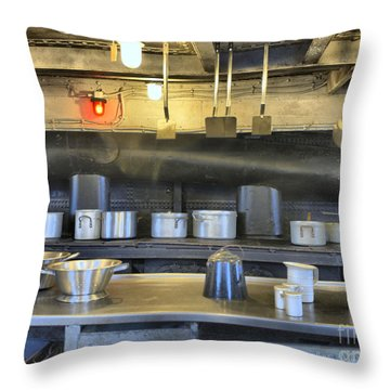 Throw Pillow featuring the photograph In The Galley by Charles McKelroy