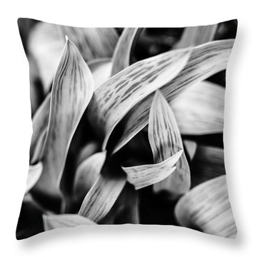 In The Garden _ Tulip Leaves Throw Pillow