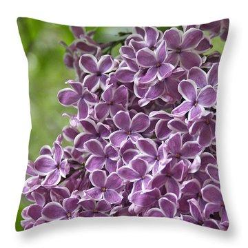 In The Garden. Lilac Throw Pillow by Ben and Raisa Gertsberg