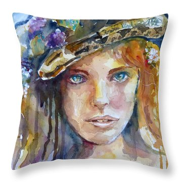 In The Garden Of Good And Evil Throw Pillow
