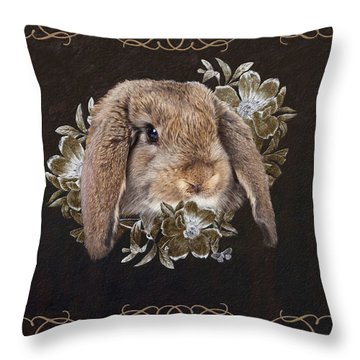 In The Garden Of Whispers Throw Pillow