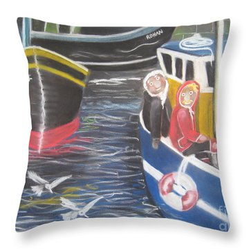 In The Harbour Throw Pillow