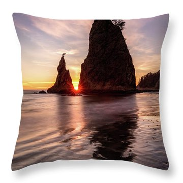 Throw Pillow featuring the photograph In The Heart Of The Sea Stacks by Pierre Leclerc Photography
