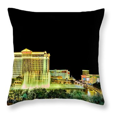 In The Heart Of Vegas Throw Pillow