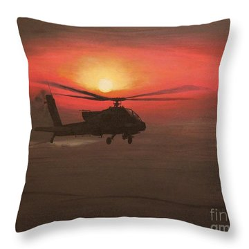 In The Heat Of Night Over Baghdad Throw Pillow