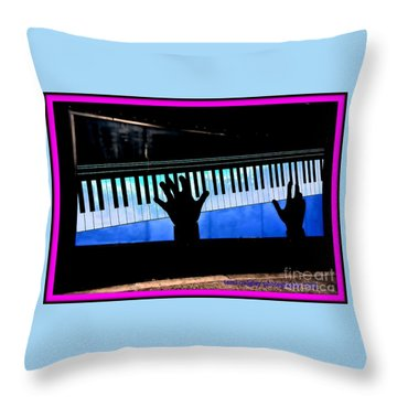 In The Key Of Cool Throw Pillow