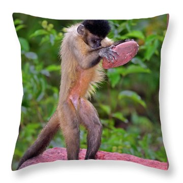In The Kitchen Throw Pillow by Tony Beck