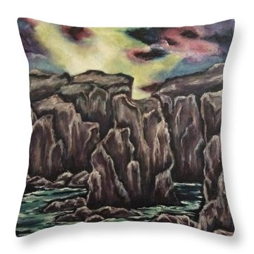 Throw Pillow featuring the painting In The Land Of Dreams 2 by Cheryl Pettigrew