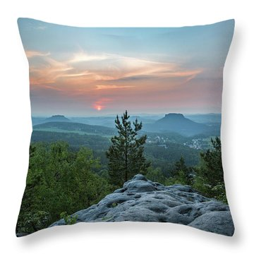 In The Land Of Mesas Throw Pillow