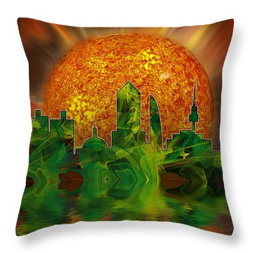 In The Last Days Throw Pillow by Gordon Engebretson