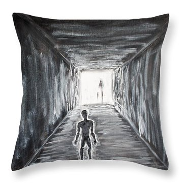 In The Light Of The Living Throw Pillow by Antonio Romero