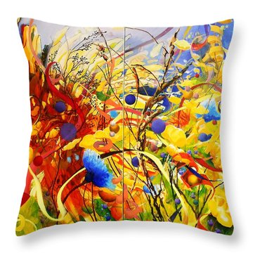 In The Meadow Throw Pillow by Georg Douglas