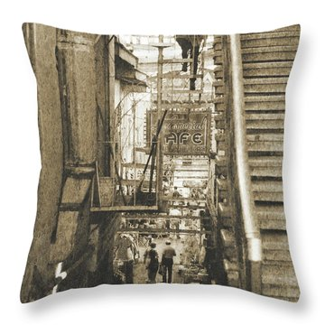 Throw Pillow featuring the photograph In The Middle by Charles McKelroy