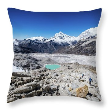 In The Middle Of The Cordillera Blanca Throw Pillow
