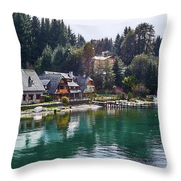 Rustic Museum In The Argentine Patagonia Throw Pillow