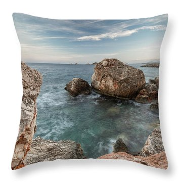 In The Middle Of The Rocks Throw Pillow