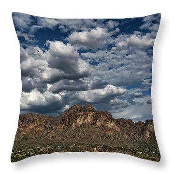 Throw Pillow featuring the photograph In The Midst Of The Superstitions  by Saija Lehtonen
