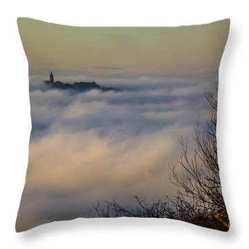 In The Mist 1 Throw Pillow by Jean Bernard Roussilhe