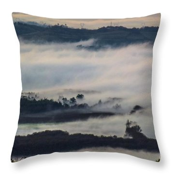 In The Mist 2 Throw Pillow by Jean Bernard Roussilhe