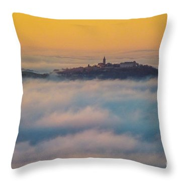 In The Mist 3 Throw Pillow by Jean Bernard Roussilhe