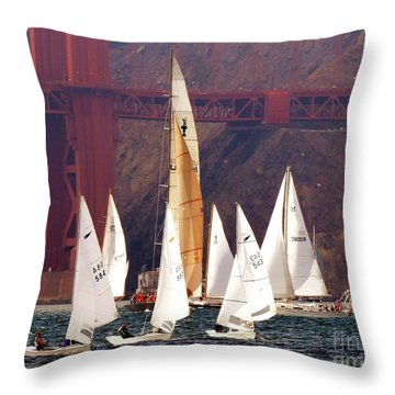 In The Mix Throw Pillow by Scott Cameron