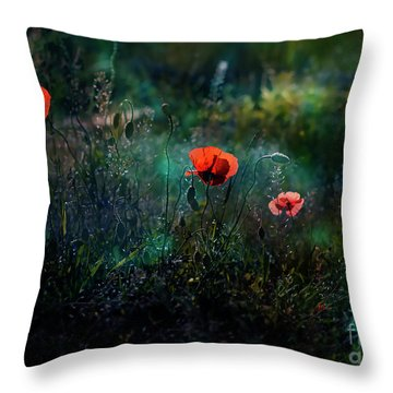 In The Morning Throw Pillow by Agnieszka Mlicka